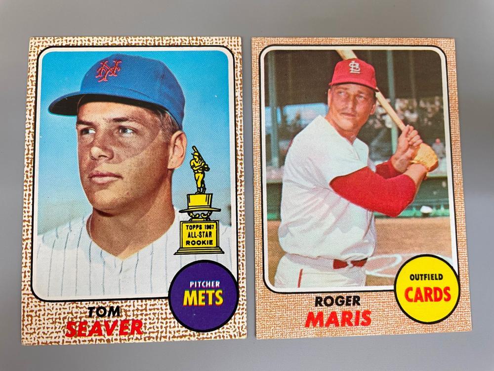 1968 Topps Baseball Cards Partial Set 319/603