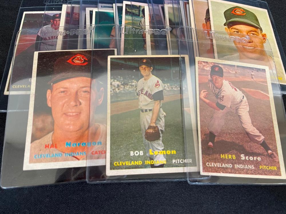 1957 Topps Baseball Cards Cleveland Indians Team Set