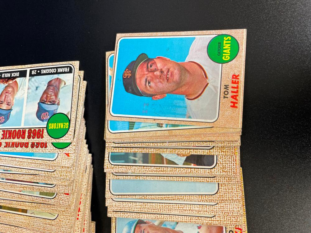 (189) 1968 Topps Baseball Cards Commons and Minor Stars