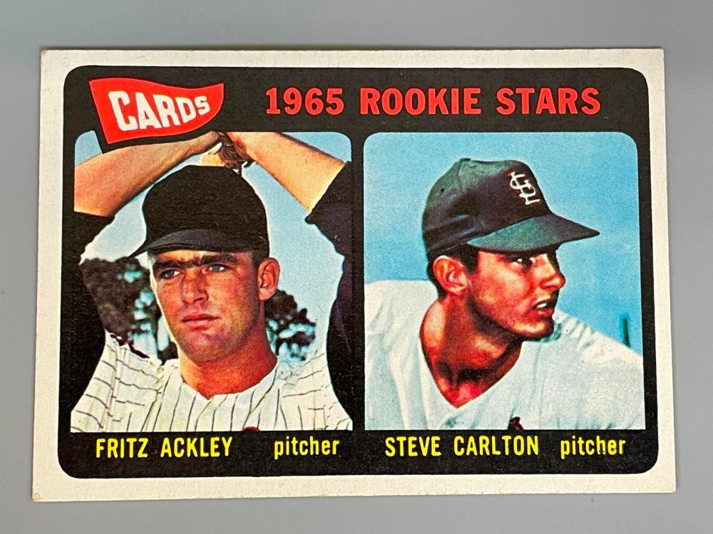(2) 1965 Steve Carlton Rookie Cards #477
