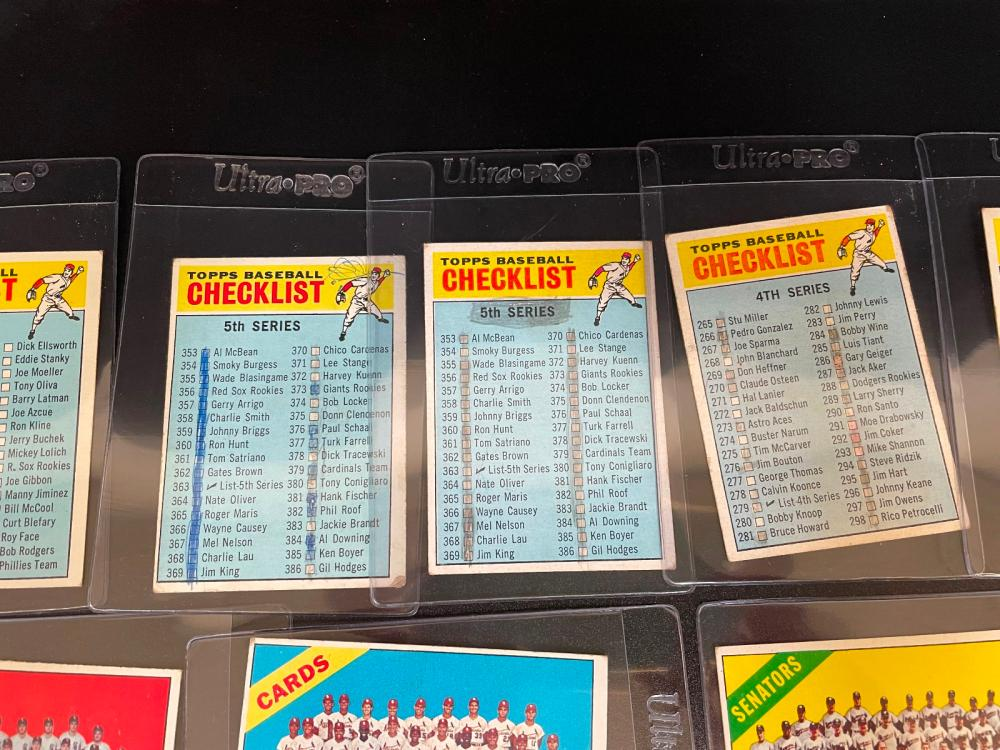 1966 Topps Baseball Checklists and Team Cards