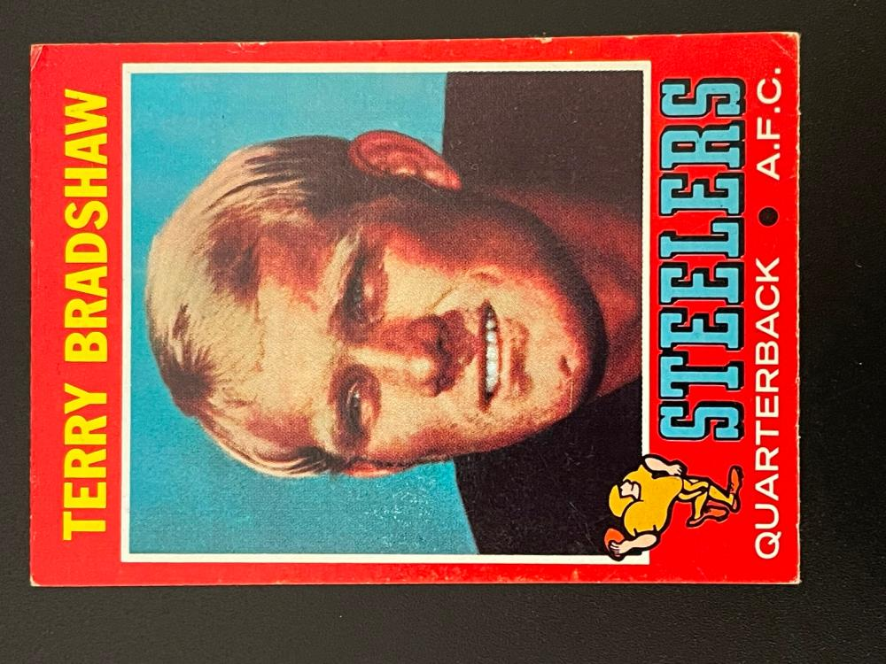 1971 Topps Terry Bradshaw and Joe Greene Rookie Cards