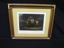 """Melvin Warren Signed Lithograph Personalized """"Night Riders"""""""