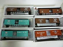 BOX CARS FOR MODEL TRAINS: ALL BY PROTO BOX CARS FOR MODEL TRAINS: ALL BY PROTO 2000 SERIES, HO, 50' SINGLE DOOR (6 TOTAL). ALL BRAND NEW IN BOXES