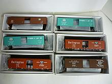 BOX CARS FOR MODEL TRAINS: ALL BY PROTO 2000 SERIES, HO, 50' SINGLE DOOR (6 TOTAL) BRAND NEW IN BOXES