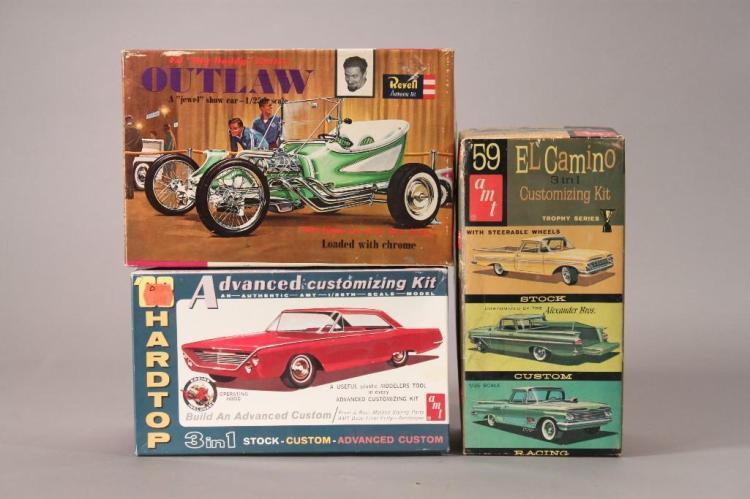 AMT & Revell Plastic Model Kits (3)