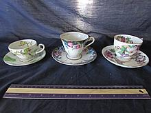 CUPS AND SAUCER SET (3)