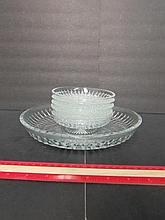 CLEAR GLASS DESSERT SET (6)