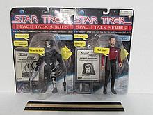 STAR TREK SPACE TALK SERIES ACTION FIGURES (2) BOTH ARE IN ORIGINAL PACKAGING, 1995, COMMANDER WILLIAM RIKER & BORG