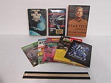 STAR TREK BOOKS (8) STAR TREK THE NEXT GENERATION PERSONAL LOG, STAR TREK MEMORIES, THE STAR TREK READER, STAR TREK PASSAGE TO MOAUV, STAR TREK GRAND SLAM V, STAR TREK THE ENTERPRISE LOGS, & STAR TREK RECORD