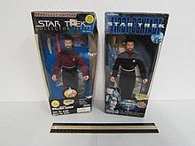 Autographed Jonathon Fracks Figures (2) Starfleet Edition, Collector Series In original box, 9