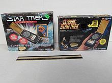 STAR TREK CLASSIC COMMUNICATOR BOXES (2) BOXES DO NOT INCLUDE STARFLEET STANDARD COMMUNICATOR DEVICES