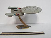 STAR TREK U.S.S. ENTERPRISE SHIP ON STAND GOOD CONDITION
