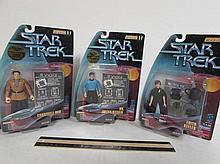 STAR TREK FIGURES (3) ALL ARE IN ORIGINAL PACKAGING, EDITH KEELER, DR. JULIAN BASHIR, & CONSTABLE ODO