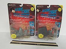 STAR TREK INNERSPACE SERIES MINI PLAYSETS (2) BOTH ARE IN ORIGINALPACKAGING, BORG SHIP MINI PLAYSET, & ROMULAN WARBIRD MINI PLAYSET