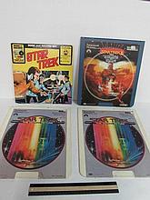 STAR TREK RCA VIDEO DISC & RECORD SET (4) STAR TREK THE WRATH OF KHAN, STAR TREK BOOK & RECORD, & (2) STAR TREK MOTION PICTURE