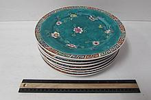 ANTIQUE HAND PAINTED ASIAN PLATES