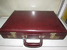 OLEG CASSINI LEATHER BRIEFCASE