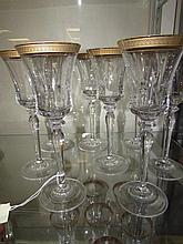 CLEAR CRYSTAL WINE STEMS (8)