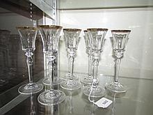 CLEAR CRYSTAL CORDIALS STEMWARE (8)