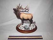 DANBURY MINT WINTER CALL ELK FIGURE