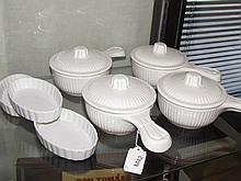 CERAMIC SERVING DISHES (7)