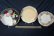 HAND PAINTED DECORATIVE BOWLS (3) 8 1/2