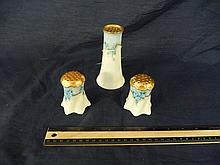 3 SALT AND PEPPER SHAKERS ONE IS MARKED BAVARIA AND IS 5