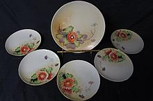 MEITO CHINA (6) HAND PAINTED, MADE IN JAPAN, DESERT SET