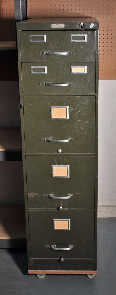 Age Five Drawer Metal Filing Cabinet