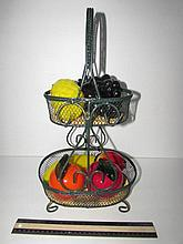 TIERED FRUIT HOLDER INCLUDES  GLASS FRUIT 17