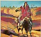 Bruce Carlton (BC) Nowlin, oil on canvas of a Native American, B C Nowlin, Click for value