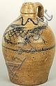 Fish Decorated Stoneware Jug