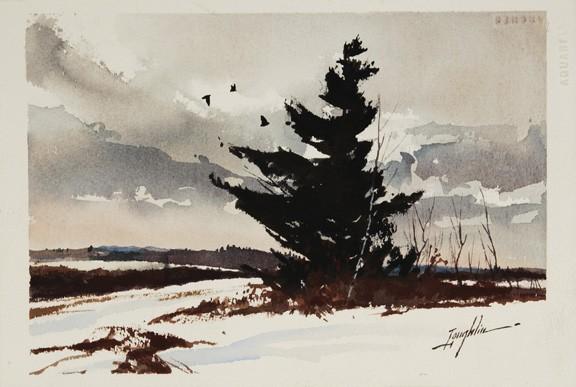 John Leo Loughlin watercolor