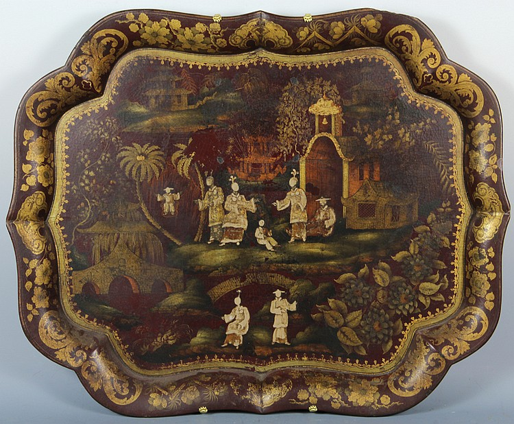 Papier-Mâché Tray, 19th century