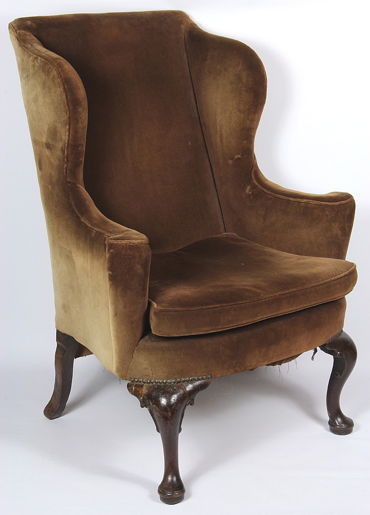 English Queen Anne Wing Chair