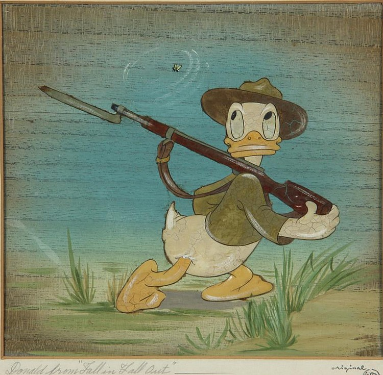 Walt Disney's Donald Duck Celluloid, dedicated in writing