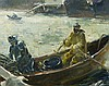 Andrew George Winter painting of Fishermen