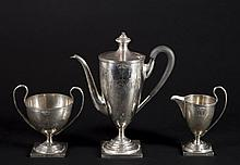 Three Piece Sterling  Silver Coffee Set