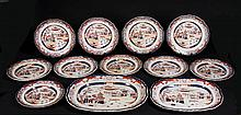 English Imari Pattern Stone China