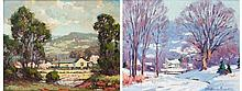 Anthony Buchta pair of seasonal landscapes