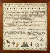 St. John, New Brunswick, Canada 1856 Needlework Family Record