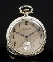 14kt. White Gold Waltham Pocket Watch