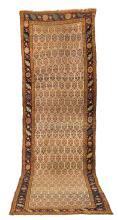 Antique Bijar Runner Oriental Rug