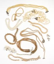 Costume Faux Pearl Lot