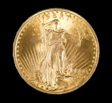 1908 Double Eagle $20 Gold Coin