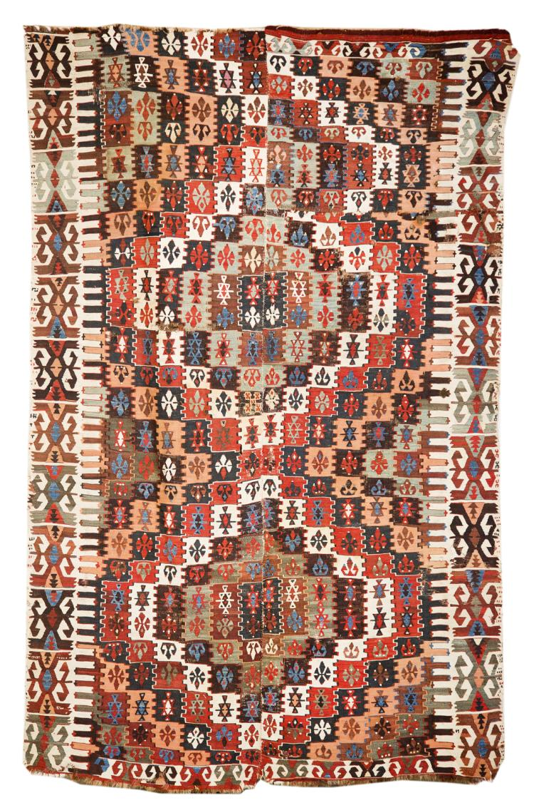 Turkish kilim small room size rug for Room size rugs