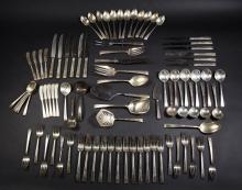 Art Deco Sterling Silver Service For 12