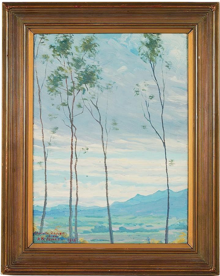 Alexander R. James Oil on Wood Panel