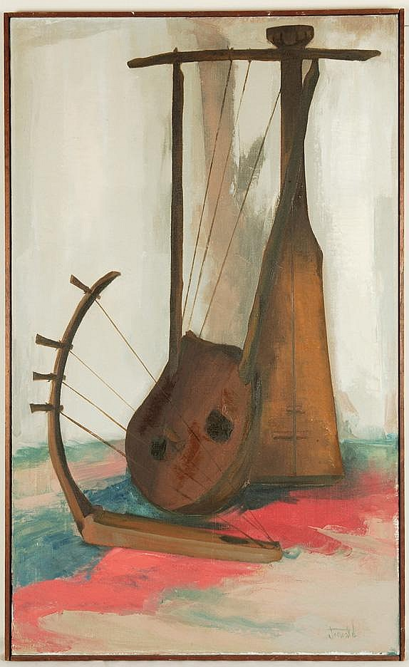 Joseph Jeswald O/C Unusual Musical Instrument